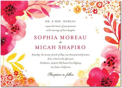Xu hướng thiệp cưới in hoa cho mùa xuân