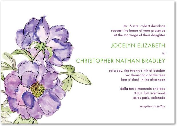 Giữ hơi thở mùa xuân với thiệp cưới in hoa
