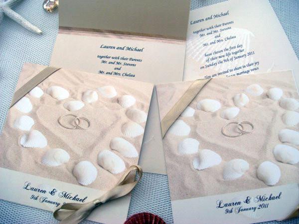 Thiệp cưới hoàn hảo cho đám cưới về biển
