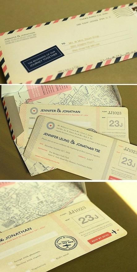 Thiệp cưới là một tấm vé máy bay đặc biệt