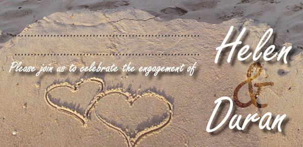 Thiệp cưới lấy cảm hứng từ biển cả