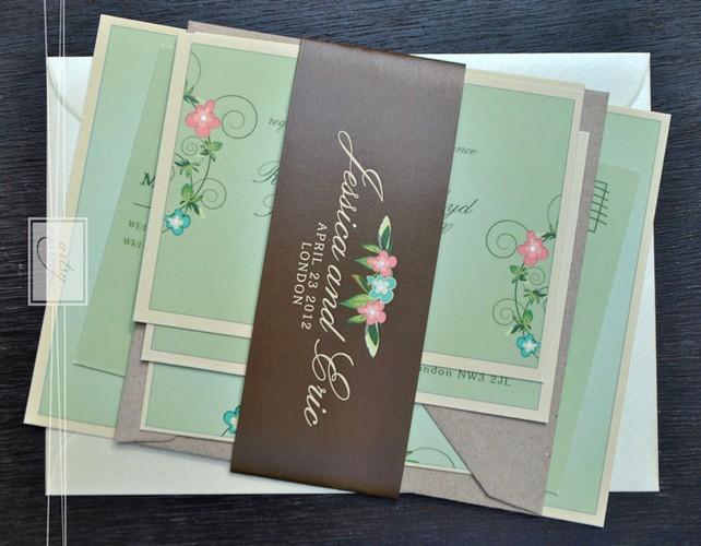 10 mẫu thiệp cưới in hoa đẹp dịu dàng